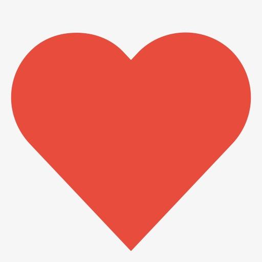 红色心形符号图标素材图片免费下载_高清图标