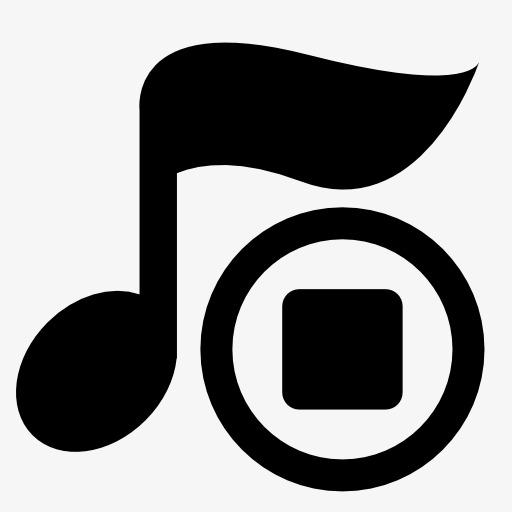 音乐停止播放图标png素材-90设计图片