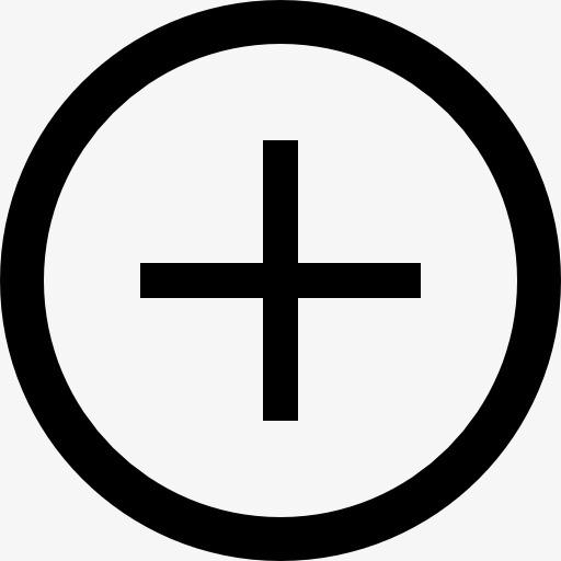 加号按钮图标png素材-90设计