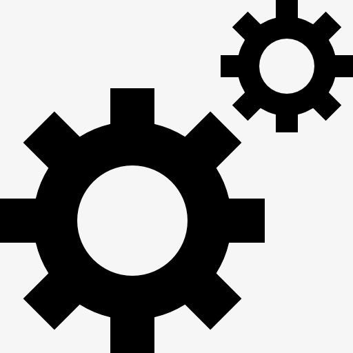 传动齿轮图标png素材-90设计图片