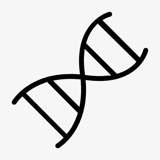 dna双螺旋结构标志图标