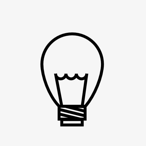 小灯泡标志图标