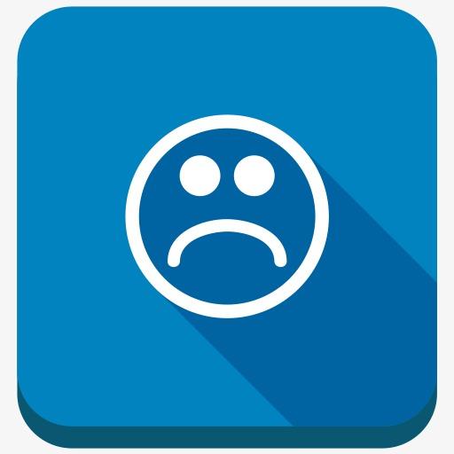 表情符号情感负悲伤悲哀的微笑笑脸社交按钮图片