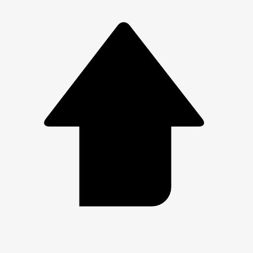 向上箭头标志图标