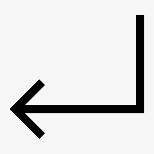 向左拐箭头图标png素材-90设计