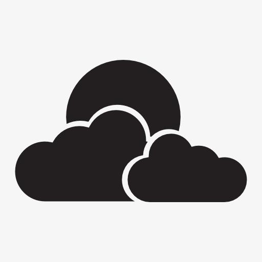 多云天气图标