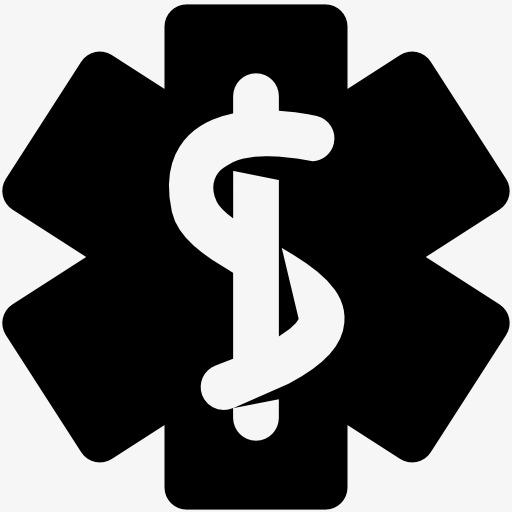 医学蛇杖标志图标