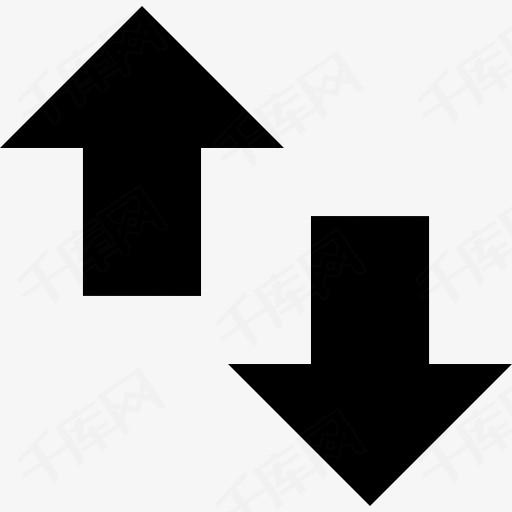 上升下降箭头图标上箭头图片