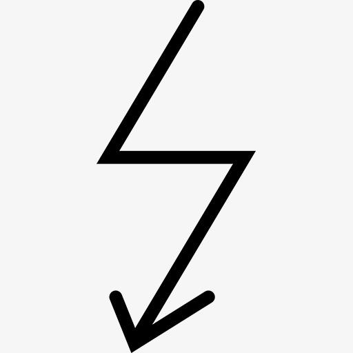闪电箭头标志图标