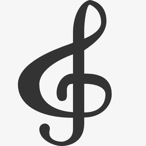 高音谱号图标音乐音符-高音谱号图标素材图片免费下载 高清图标素材