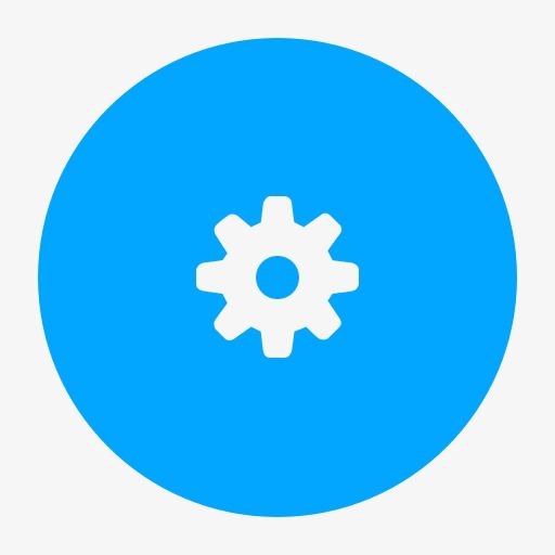 配置齿轮选项偏好设置系统工具圆形用户界面按钮
