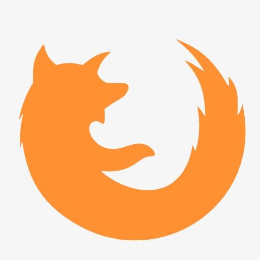 橙色的firefox标志图标png素材-90设计