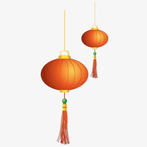 春节的灯笼图标