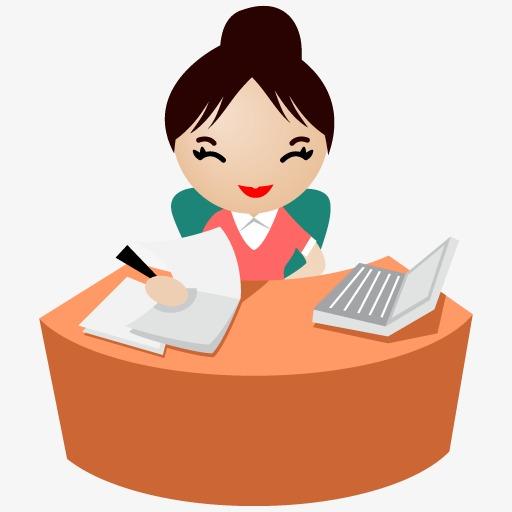 微笑的办公室女白领图标图片