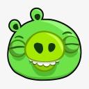 绿色小猪表情图标下载图片