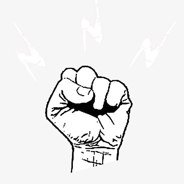 手绘拳头素材图片免费下载 高清装饰图案psd 千库网 图片编号1157169