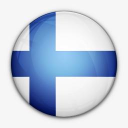 芬兰国旗对世界国旗图标图片