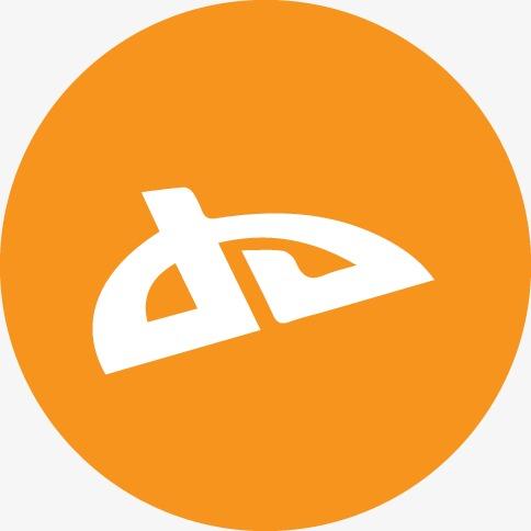 deviantart橙色的社会图标png素材-90设计