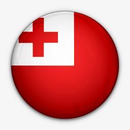 国旗对汤加世界国旗图标图片