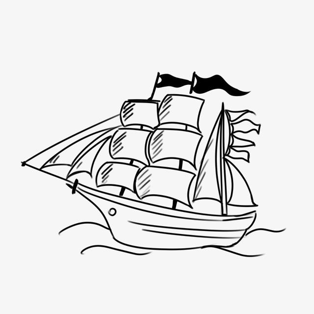 简笔画帆船