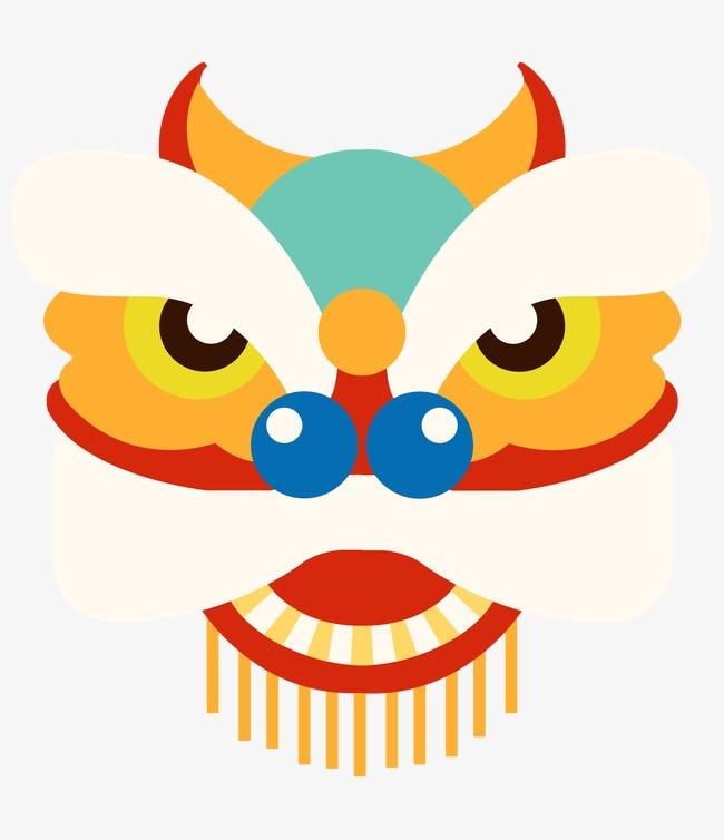 舞狮 狮头 手绘 中国风             此素材是90设计网官方设计出品