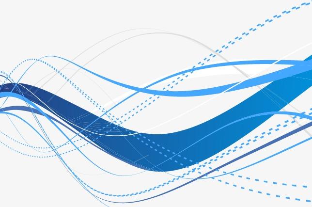 蓝色科技抽象几何线条