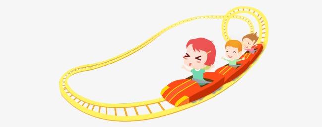 卡通儿童过山车图片