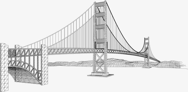 素描大桥素材图片免费下载 高清图片png 千库网 图片编号4096689