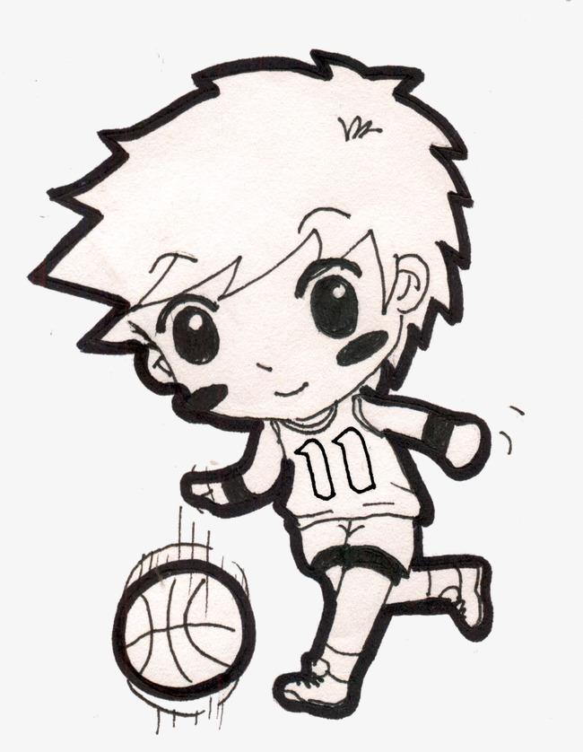 打篮球男孩