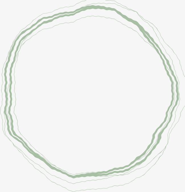 白色绿色手绘线条