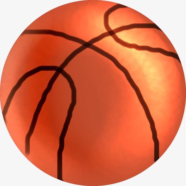 橙色卡通篮球手绘人物