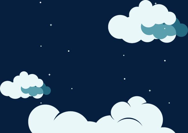 卡通天空蓝天白云