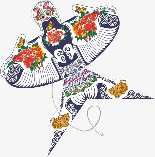 彩绘图案风筝彩绘图案风筝春天气息海报广告元件矢量简约图艺术设计