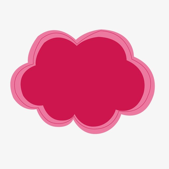 红色云朵边框png素材-90设计