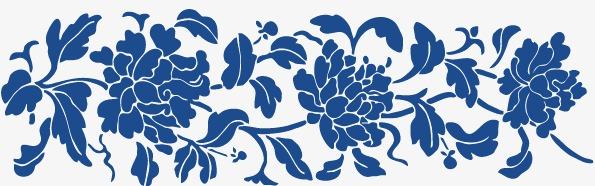青花瓷简单花纹图片 青花瓷简单花纹纹样 青花瓷简单花边图片