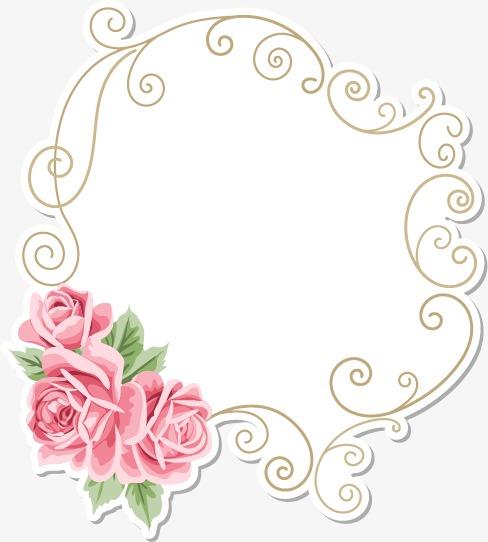 欧式花朵边框(图片编号:15401890)
