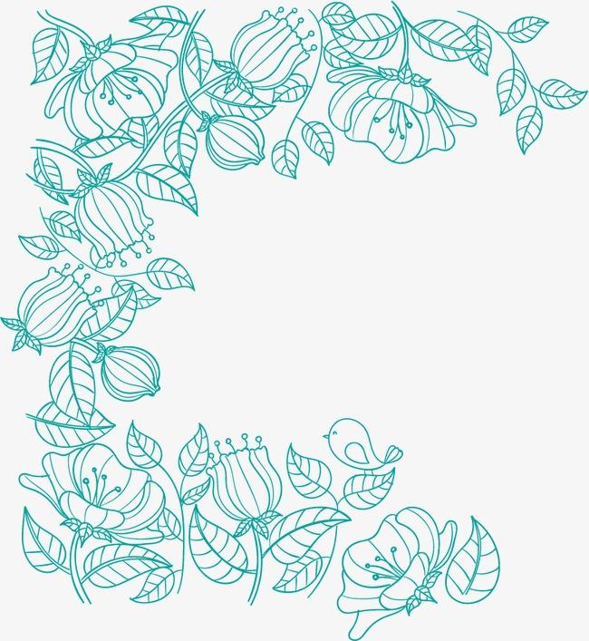 植物线条边框植