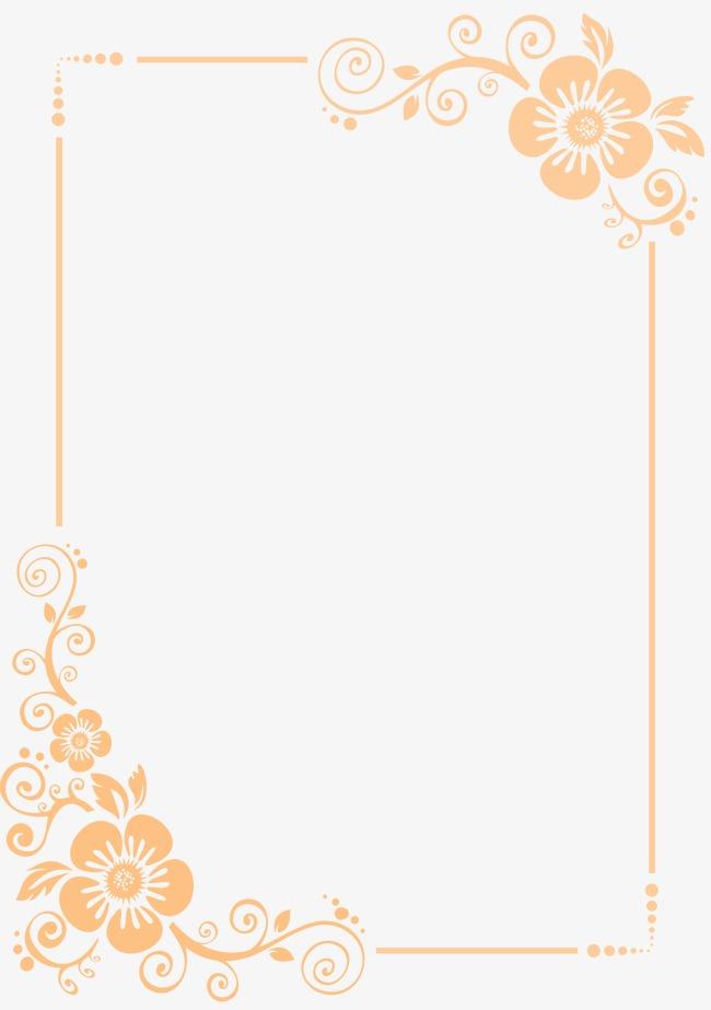 手绘简单花朵边框
