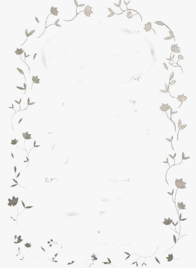 小清新简单花边装饰背景