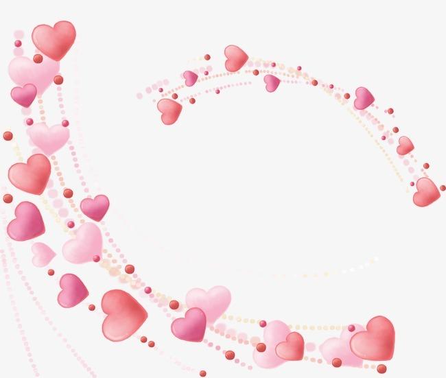 唯美精美心形边框爱心