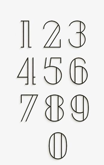 数字 艺术字 字体设计 中式数字 数字设计 1 2 3 4 5 6 7 8 9 笔画