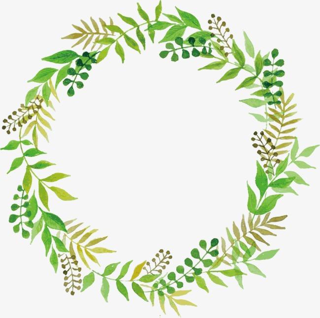 树叶花卉边框png素材-90设计