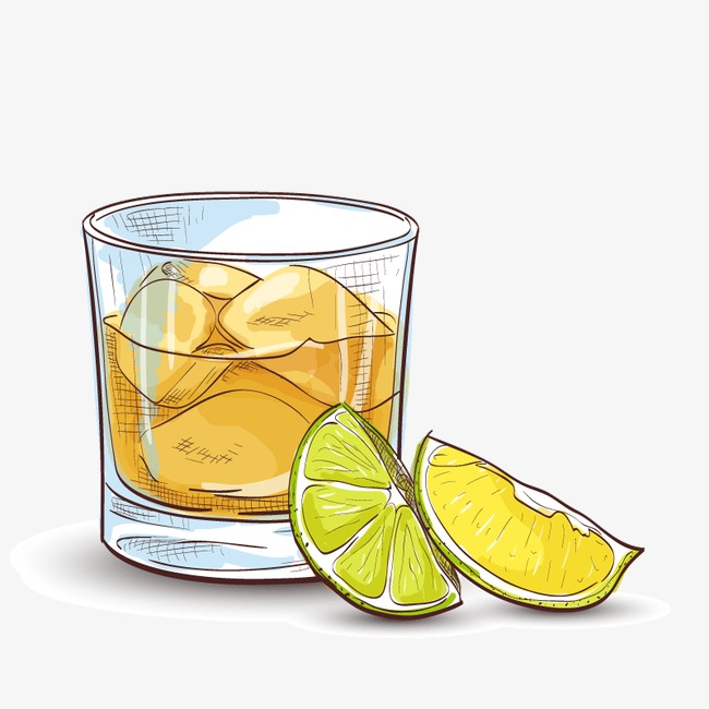 手绘柠檬冰爽夏季饮品矢量图素材图片免费下载_高清