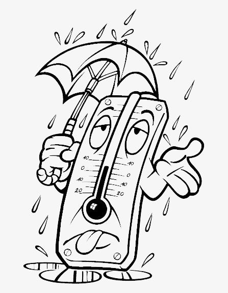 下雨 手绘 表情 线条