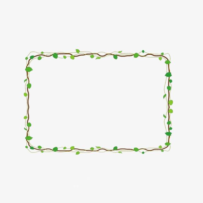 绿叶边框素材图片免费下载_高清装饰图案png_千库网