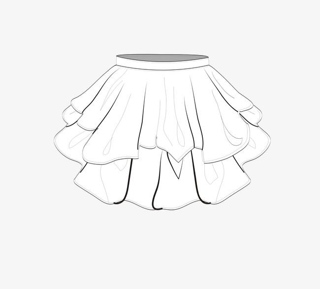 简笔手绘半身裙