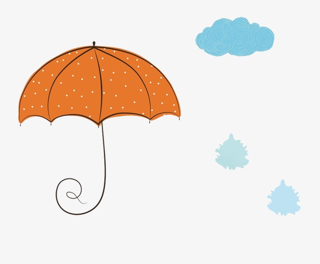 简笔手绘雨伞
