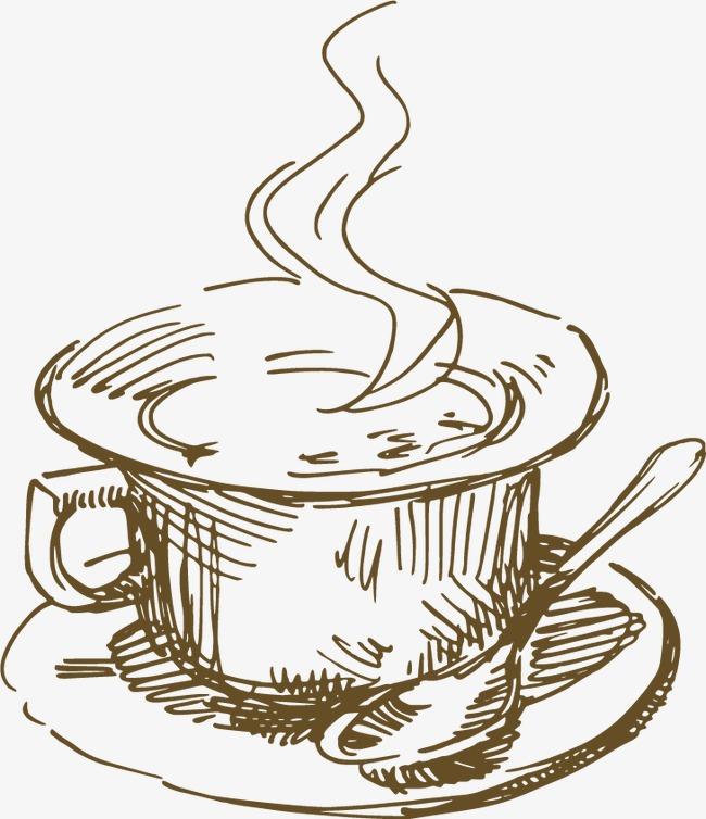 平面设计 杯子 咖啡杯 素描 矢量图             此素材是90设计网