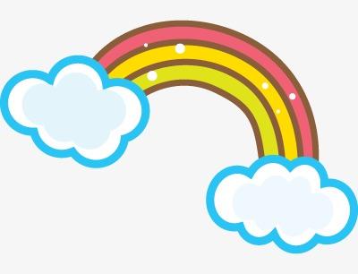 可爱卡通彩虹图片