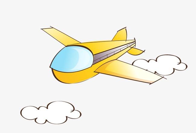 可爱手绘飞机